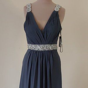 NWT Sexy Faviana Gray Evening Gown Style #S7165